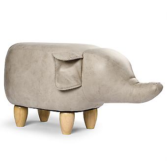 YANGFAN Flying Elephant 4 Wood Legs Ottoman