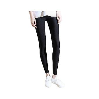 Hög midja Slim Skinny Kvinnor Leggings Stretchy Byxor Jeggings L