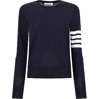 Thom Browne Fka280a00014415 Naiset's Blue Wool Villapaita