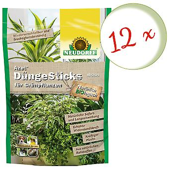 Sparset: 12 x NEWDORFF Azet® FertilizerSauvat vihreille kasveille, 40 tikkua