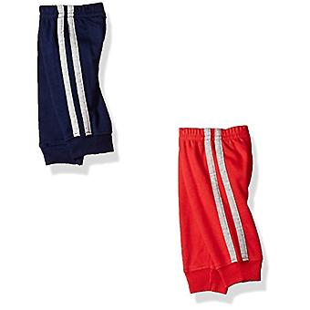 Simple Joys de Carter's Baby Boys 4-Pack Pant, Grey/Blue/Red Side Stripe, 3-6...