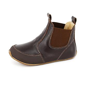 SKEANIE Toddler and Kids Leather Riding Boots in Chocolate Brown
