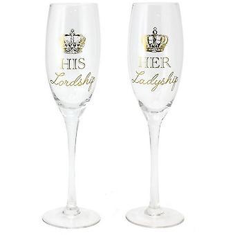 Panowania i Ladyship flety szampana (zestaw 2)