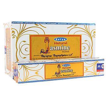 Satya Natural Jasmine Incense Sticks (Box Of 12 Packs)