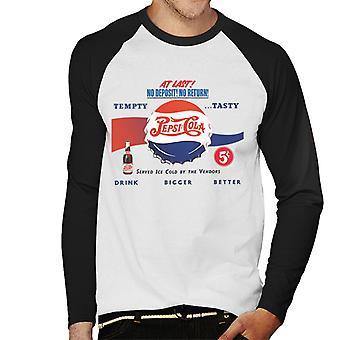 Pepsi Cola Retro Drink Bigger Better Hommes Baseball Long Sleeved T-Shirt
