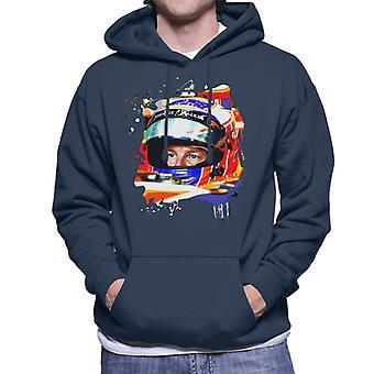 Motorsport Images Jenson Button McLaren MCL32 Honda Monaco Helmet Shot Men's Hooded Sweatshirt
