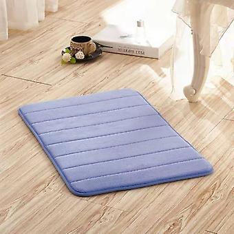 Tapis de tapis de bain d'absorption d'eau de salle de bains de mousse de mémoire - tapis de plancher de cuisine, douche