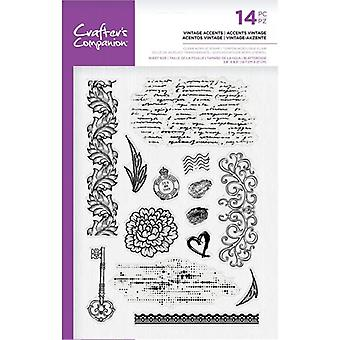 Crafter's Companion Clear Stamps - Vintage Accents
