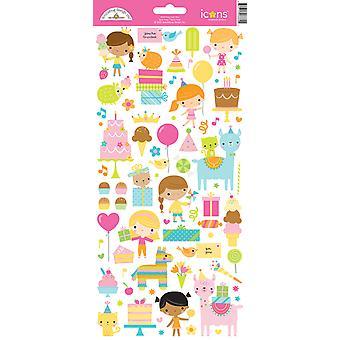 Doodlebug Design Hei Cupcake Kuvakkeet Tarra