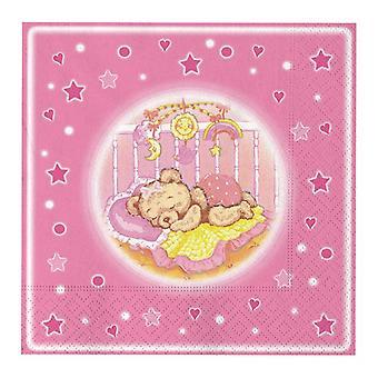 Μωρό Όνειρα Ροζ 33cm 3ply Πετσέτες Μεσημεριανό