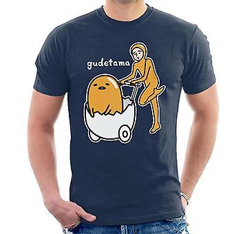 Gudetama Nissetama San Eggshell Pram Men-apos;s T-Shirt
