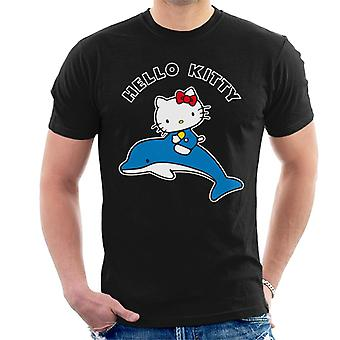 Ciao Kitty Riding Dolphin Uomini's T-Shirt