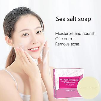 Sea Salt Soap Remove Pimple Pores Acne Treatment Cleaner - Moisturizing Shea Butter Face Wash Soap