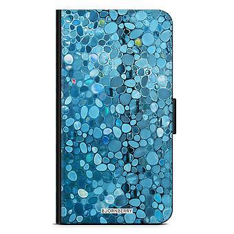 Bjornberry محفظة القضية LG G5 - زجاج ملون أزرق