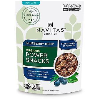 Navitas Organics, Power Snacks, Blueberry Hemp, 8 oz (227 g)