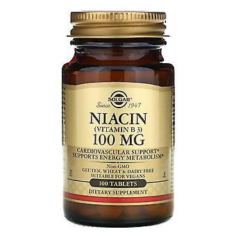 Solgar, Niacina (Vitamina B3), 100 mg, 100 Compresse