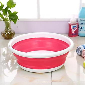 Portable Foldable Wash Basin Bucket For Vegetable Fruits - Kitchen Accessories