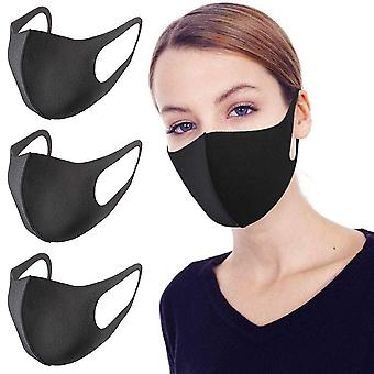 3 Pack Unisex Face Mouth Mask, Washable Reusable Anti Dust Face Mask