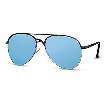 النظارات الشمسية الرجال الطيار الرجال كات. 3 غير لامع أسود / أزرق