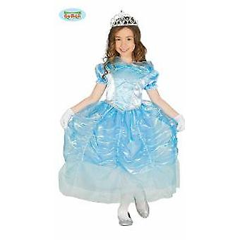 Guirca Princess costume for girls Carnival fairy ice blue Queen ball dress Gr. 98-134, size: 110/116