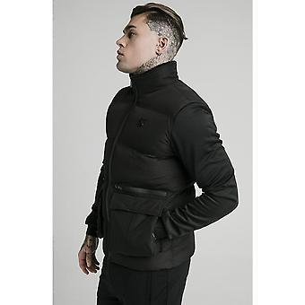 Sik Silk Neo Instinct Black Bubble Puffer Jacket