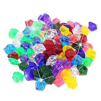 Πλαστικά πολύτιμοι λίθοι πάγου κόκκους πολύχρωμα μικρές πέτρες κοσμήματα θησαυρός