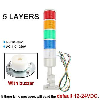 Rotatable 180 Stack Light Red Orange Amber Green Warning Light Industrial For Cnc Machine
