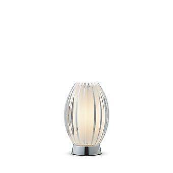 Herstal - 1 lichte tafellamp Chrome, Helder, E27