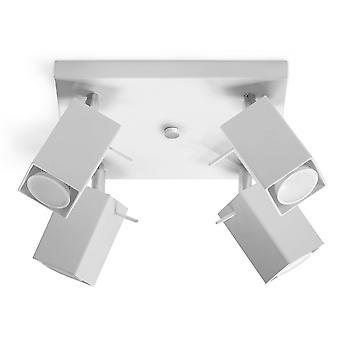 4 Light Spotlight Bar White, GU10