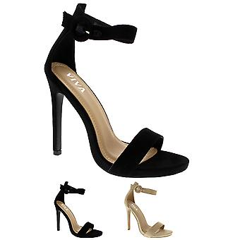Mode féminine Open Toe Stiletto Barely There découpe robe talons UK 3-10