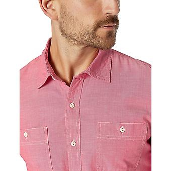 Essentials Men's Slim-fit Long-Sleeve Chambray Shirt