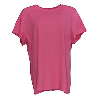 Isaac Mizrahi Live! Women's Pima Cotton Favorite T-Shirt Pink A374886