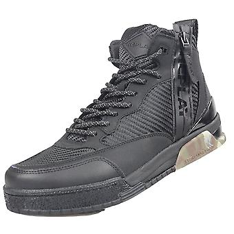 Replay Black/camo High Top Trainer
