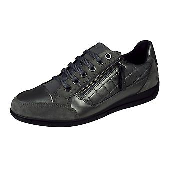 Geox D Myria A Womens Casual Trainers / Shoes - Graphite