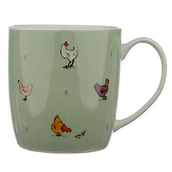 Taza de porcelana coleccionable - Willow Farm Chickens X 1 Pack
