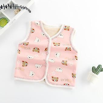 Winter Baby Vest Cardigan Infant Kids Clothes Inner Waistcoats Toddler Coats Girls Fur Baby Outerwear