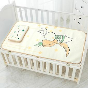 Baby Cartoon Mattresses Summer Cool Sleeping Mat Breathable Pads, Toddler Crib