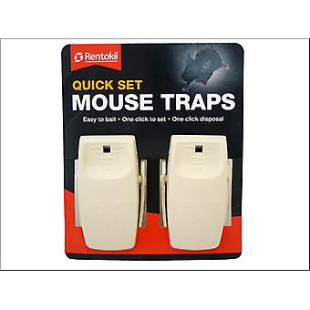 Rentokil Quick Set Mouse Traps x 2 FQ26