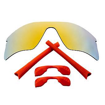Polarized Replacement Lenses & Kit for Oakley Radar Range Gold Mirror & Red Anti-Scratch Anti-Glare UV400 by SeekOptics