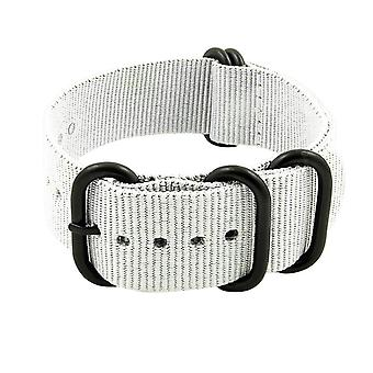 Strapsco nylon 5 ring n.a.t.o watch strap with matte black rings