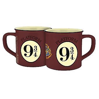 Taza de Harry Potter Hogwarts Express 9 3/4 esmalte look brown, impreso, 100% cerámico, zócalo ÷ aprox. 250 ml.