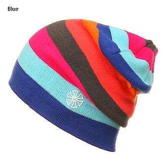 Vinter mænd skøjteløb Cap Rainbow Snowboard Hat, Udendørs Dobbelt Strik Varm Ski