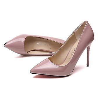 Damskie buty wskazał toe pompy skóra patentowa
