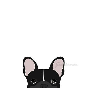Frenchie Sticker | Frenchiestore |  Black W Line French Bulldog Car Decal