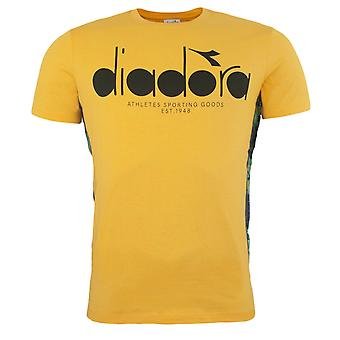 Diadora Yellow Citrus Short Sleeved Crew Neck Mens T-Shirt 35054