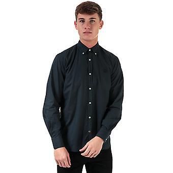 Men's Henri Lloyd Cotton Popeline Regular Fit Shirt in Blue