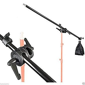 75-135Cm lighting holding boom arm tripod sandbag telescopic boom arm and lock nut, double clamp, fo