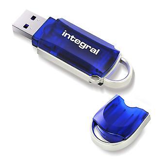 Integral 128gb usb memory 2.0 flash drive courier blue infd128gbcou 128 gb