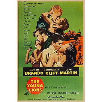 Nuoret leijonat meille julistetaiteen miesten Top Marlon Brando Montgomery Clift Dean Martin 1958 Tm & Copyright 20Th Century Fox Film Corp kaikki oikeudet ReservedCourtesy Everett Collection elokuvan juliste Masterp