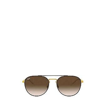Ray-Ban RB3589 gold top on brown unisex sunglasses
